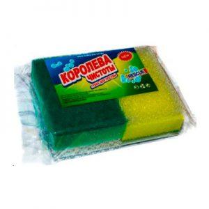 """Губки для мытья посуды """"Трехслойная Люкс Комби Дуэт"""""""